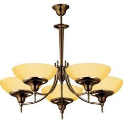 Onyx 333 lampa wisząca patyna mat/opal 5x60W E27 Amplex