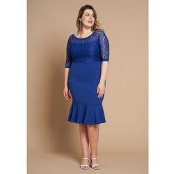 adb78213a8 suknie sukienki sukienka koronkowa z godetami (od Szara Koronkowa ...