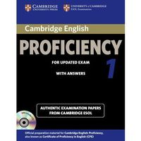Cambridge English Proficiency (CPE) 1 (updated exam) Self-Study Pack (Student's Book (podręcznik) with Answers & Audio CDs (2)) (opr. miękka)