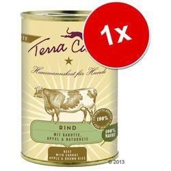 Terra Canis, 1 x 400 g - Wołowina z marchewką, jabłkiem i ryżem naturalnym