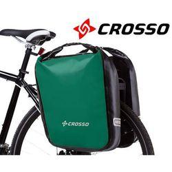 CO1009.60.86 Sakwy rowerowe Crosso DRY BIG 60l Zielone zestaw na tył