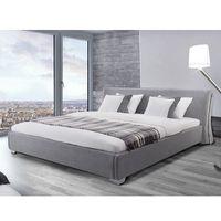 Nowoczesne łóżko tapicerowane ze stelażem 180x200 cm - PARIS szare