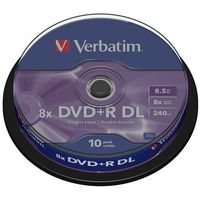DVD+R VERBATIM 8.5GB DOUBLE LAYER X8 MATT SILVER (10 CAKE)