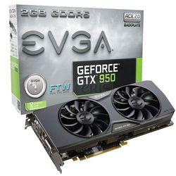 Karta graficzna EVGA GeForce® GTX 950 FTW ACX 2.0, 2GB GDDR5 (128 Bit), HDMI, DVI, 3xDP - 02G-P4-2958-KR