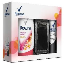 REXONA ZESTAW PREZENTOWY WOMAN (DEO SPRAY INVISIBLE 150ML+ŻEL POD PRYSZNIC TROPICAL POWER 250ML)
