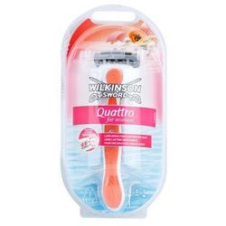 Wilkinson Sword Quattro for Women Papaya & Pearl maszynka do golenia + do każdego zamówienia upominek.