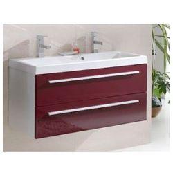 ELITA Kwadro Red szafka + umywalka 100 z dwoma otworami 162331.22052011