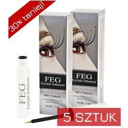 FEG - Eyelash Enhancer x 5 - Odżywka do rzęs wzmacniająca - ZESTAW 5 SZTUK w promocyjnej cenie - 5 szt x 3 ml - DOSTAWA GRATIS! Kupując ten produkt otrzymujesz darmową dostawę !