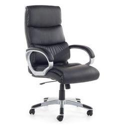 Krzeslo biurowe czarne - fotel biurowy - obrotowy - siatka - skóra ekologiczna - KING