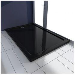 Brodzik prysznicowy prostokątny ABS czarny 80 x 120 cm Zapisz się do naszego Newslettera i odbierz voucher 20 PLN na zakupy w VidaXL!