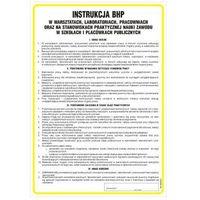 Instrukcja ogólna BHP w warsztatach, laboratoriach, pracowniach oraz stan. prakt. nauki zawodu w szkołach i placówkach publ