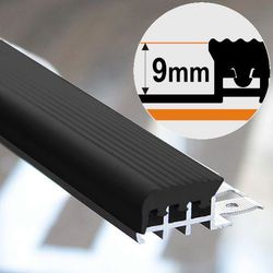 Listwa Schodowa Aluminiowa ASPRO 25x9mm Czarna Guma Dł:2,5m