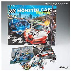 Zestaw z naklejkami Monster Cars