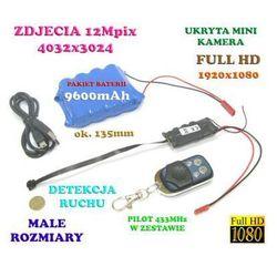 Mikro-Kamera FULL HD Nagrywająca Obraz i Dźwięk (30-dni Pracy!!) + Detekcja Ruchu.