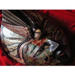 Dekoracyjny Prezent RZEŹBA Egzotyczna Maska NIEPODZIELNOŚCI WŁADZY