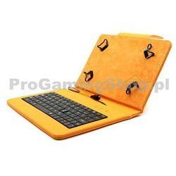 Akcja - Etui FlexGrip z klawiaturą do GoClever Insignia 700 Pro, Pomarańczowy