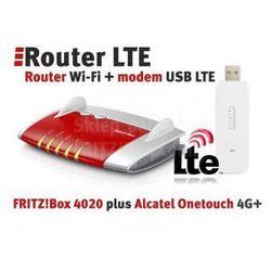 Router + LTE Zestaw FRITZ!Box 4020 + Modem Alcatel 4G