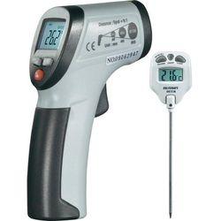 Zestaw termometr na podczerwień + termometr bagnetowy VOLTCRAFT, Optyka 8:1, Od -30 do +260°C / -10 do +200 °C