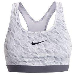 Nike Performance PRO CLASSIC Biustonosz sportowy white/dark grey/black