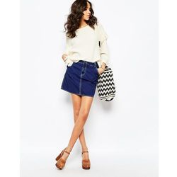M.i.h Jeans Eques A Line Denim Skirt In Clean Blue - Blue