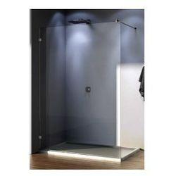 Ścianka wolno stojąca SanSwiss WALK-IN PUR szerokość 101 do 160 cm montaż bez profilowy lewy, chrom, szkło przeźroczyste PDT4GSM31007