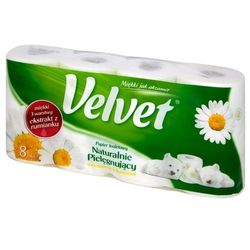 VELVET 8szt Naturalnie Pielęgnujący Papier toaletowy
