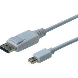 Kabel TV, Monitor DisplayPort, [1x Złącze męskie DisplayPort <=> 1x Złącze męskie mini-DisplayPort ], 1 m, Biały