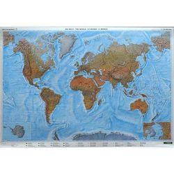 Świat mapa ścienna fizyczna w arkuszu 1:35 000 000
