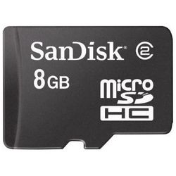 Karta SANDISK microSDHC/8GB + adapter SD
