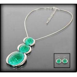 Naszyjnik z zielonych kamieni - zielony