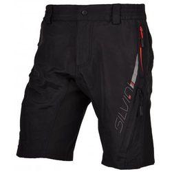 Męskie MTB rowerowe spodnie Silvini Mago MP376 black-red