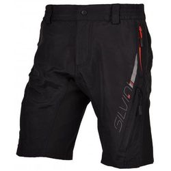 Męskie MTB spodnie rowerowe Silvini Mago MP376 black-red