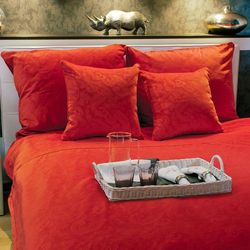 aksamitna pościel Emma Exclusive Super King 220x200 czerwona hot red