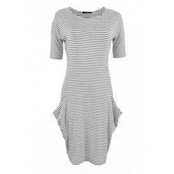 Sukienka w paski (Kolor: wielobarwny, Rozmiar: 46)