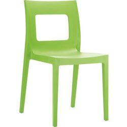 Designerskie krzesło całoroczne do ogródka restauracji lub kawiarni Lucca zielone