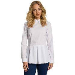 e65a7cd6 bluzki damskie biala koszulowa bluzka z nadrukiem w stylu vintage z ...