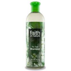 Organiczny szampon do włosów z dodatkiem olejku z drzewa herbacianego 400ml Faith In Nature