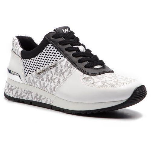 b07ca8837a796 Sneakersy MICHAEL MICHAEL KORS - Allie Wrap Trainer 43S9ALFS3B Wht/Blk