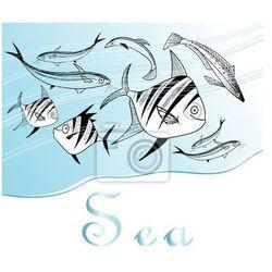 Obraz tło z ryb