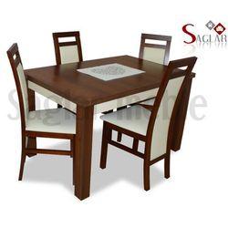 Zestaw REN VII 4 krzesła i stół 80x120/160