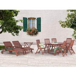 Meble ogrodowe - stół rozkładany, 8 krzeseł, 2 leżanki, 1 stolik - TOSCANA