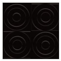 płytka ścienna Ton struktura C nero 9,8 x 9,8