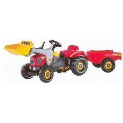 ROLLY TOYS Junior RT - Traktor na pedały czerwony z przyczepą i łyżką