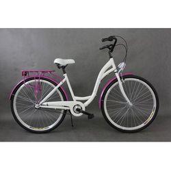 Goetze rower miejski Blueberry 28 biało-fioletowy 18