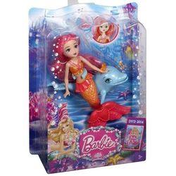 Barbie Perłowa Księżniczka Mała syrenka ze zwierzątkiem