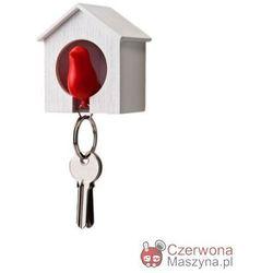 Wieszak na klucze Budka Qualy mała, biało - czerwona