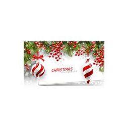 Foto naklejka samoprzylepna 100 x 100 cm - Christmas tła z gałęzi jodłowych i czerwone kulki