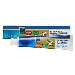 Pasta do zębów z miodem Manuka MGO 400+ Propolisem BIO30 i olejkiem z Drzewa Herbacianego 100g