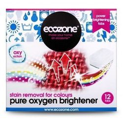 Ecozone tabletki odplamiające z aktywnym tlenem do tkanin kolorowych 12 szt