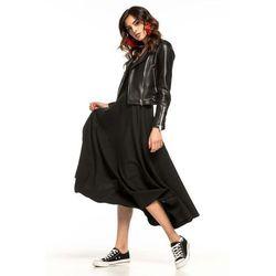 kurtka z zamkiem na bok czarna x8018x w kategorii Spódnice i